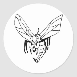 Bee Hornet Wasp Classic Round Sticker