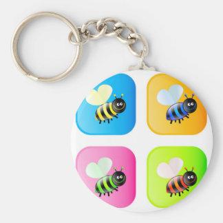 Bee Icons Keychain