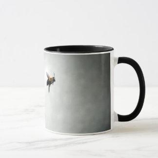 bee in flight mug