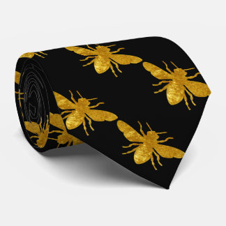Bee in Gold Tie