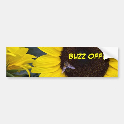 Bee in Sunflower Bumper Sticker
