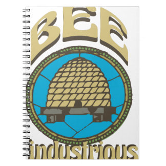 Bee Industrious Spiral Note Book