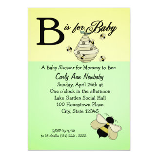 Bee is for Baby Shower Card
