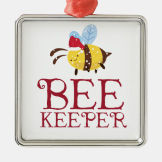 Bee Keeper Christmas Edition Metal Ornament