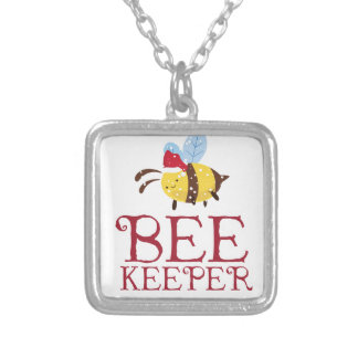 Bee Keeper Christmas Edition Silver Plated Necklace