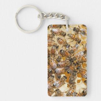 Bee keeping at Arlo's Honey Farm Double-Sided Rectangular Acrylic Keychain
