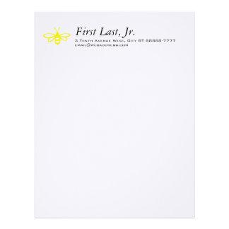 Bee [lemon] letterhead template