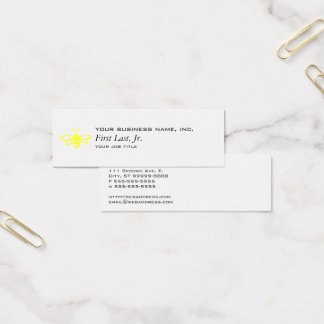 Bee [lemon] mini business card