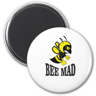 bee mad bee 2 inch round magnet