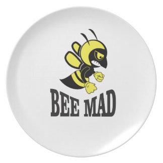 bee mad bee plate