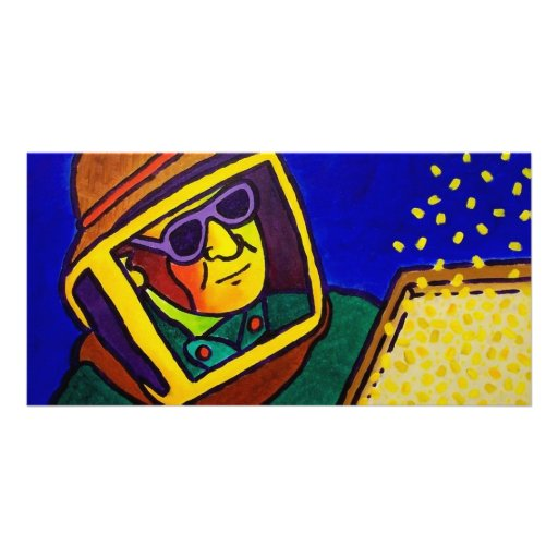 Bee Man 2 by Piliero Personalized Photo Card