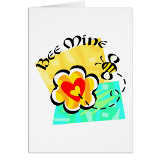Bee Mine Bumblebee Heart Flower Card
