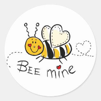 Bee mine classic round sticker
