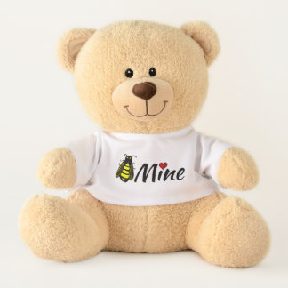 Bee Mine Cute Honeybee with Red Heart Valentine Teddy Bear