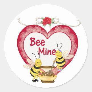 Bee Mine Honey Classic Round Sticker