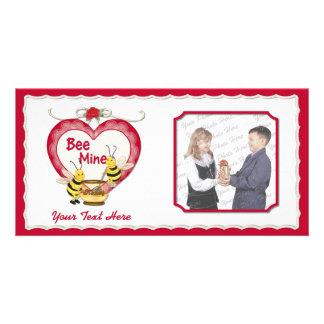 Bee Mine Honey Photo Card Template