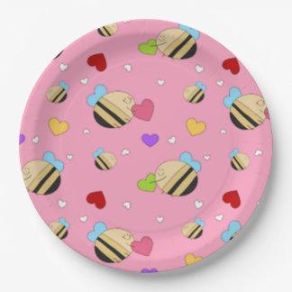 Bee Mine Valentine 9 Inch Paper Plate