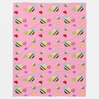 Bee Mine Valentine Fleece Blanket