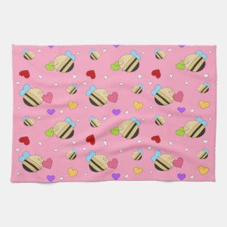 Bee Mine Valentine Hand Towels