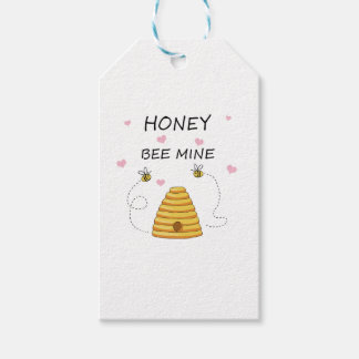 Bee mine Valentines day Gift Tags