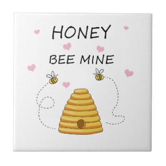 Bee mine Valentines day Tile
