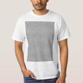 Bee Movie Script Body Text Light T-Shirt