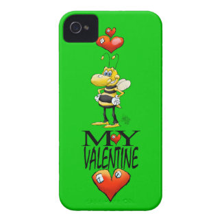 Bee my Valentine, on a iphone4 case. Case-Mate iPhone 4 Cases