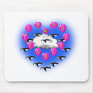 bee my valentine penguins mouse pad