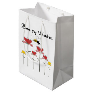 Bee my Valentine Sac Cadeau Moyen
