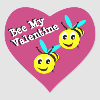 Bee My Valentine Sticker