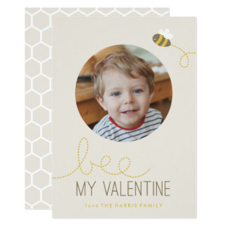 "Bee My Valentine Valentine's Day Card 5"" X 7"" Invitation Card"