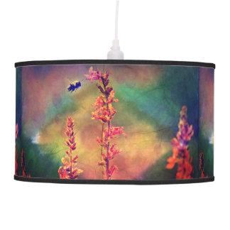 Bee N Wildflowers Diamond Earth Tones Pendant Lamp