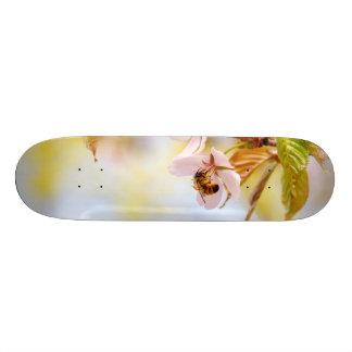 Bee On A Cherry Flower Custom Skateboard