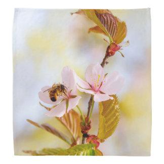 Bee On A Cherry Flower Kerchiefs