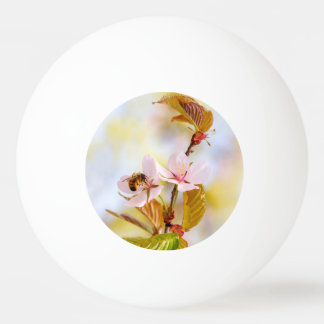 Bee On A Cherry Flower Ping Pong Ball