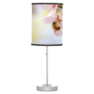 Bee On A Cherry Flower Table Lamp