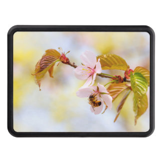 Bee On A Cherry Flower Trailer Hitch Cover