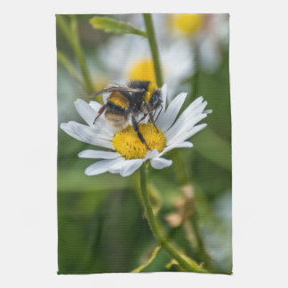 Bee on a daisy kitchen towel