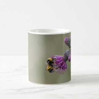 Bee on a Thistle Coffee Mug
