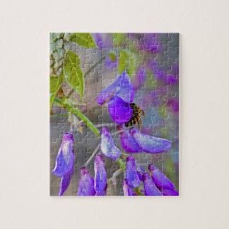 Bee On A Wisteria Puzzle