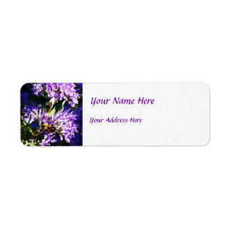 Bee on Butterfly Bush - Lavender Flowers Return Address Label