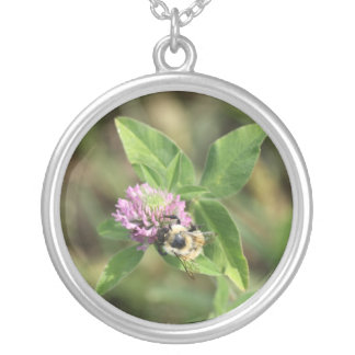 Bee on Clover Necklace
