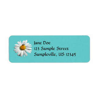Bee on Daisy Customizable Color Return Address Label