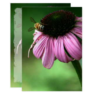 Bee on Flower Card