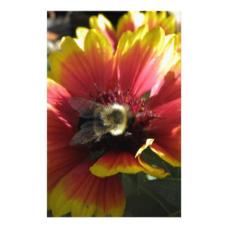 Bee on Flower Customized Stationery