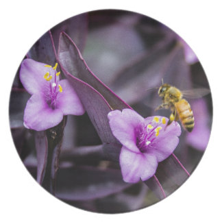 Bee on Flower Dinner Plate