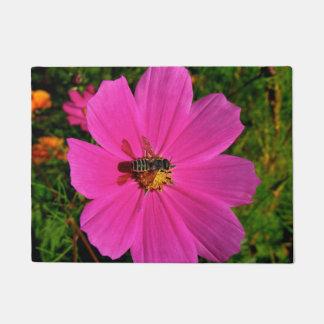 Bee On Flower Door Mat