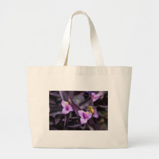 Bee on Flower Large Tote Bag