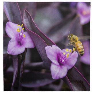 Bee on Flower Napkin