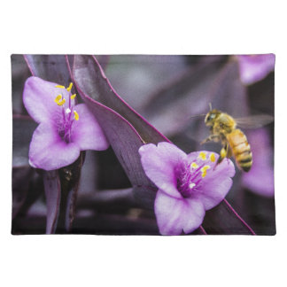 Bee on Flower Place Mats
